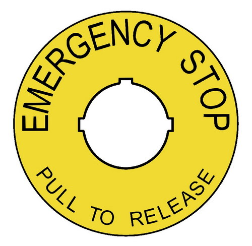 Emergency Stops Labels Extreme When Quality Matters