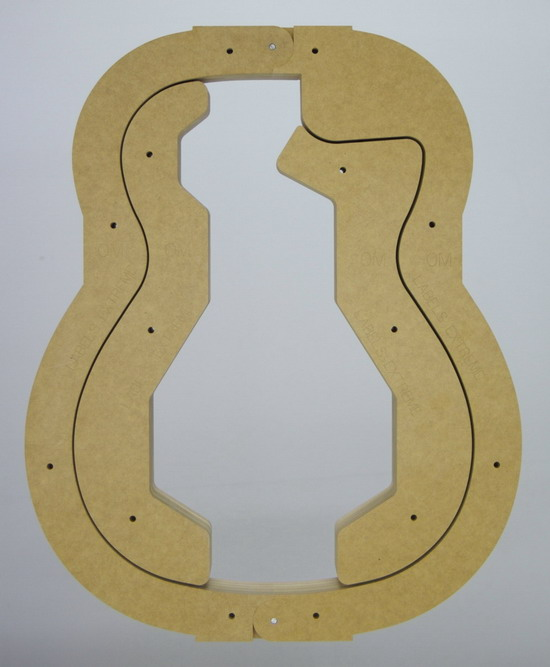 OM Guitar Form - 'Squared off' Cutaway