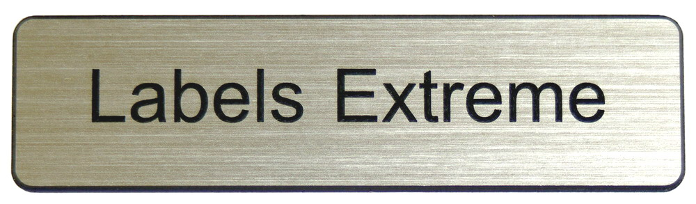 One Line Flat Name Tag with Pin