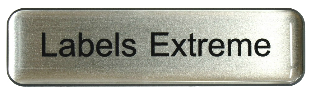 One Line Domed Name Tag with Magnet